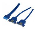 2 ports USB 3.0 Type A pour châssis - Carte Mère DIP 19 pts