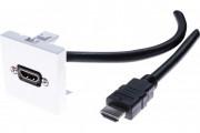 Plastron 45 x 45 avec cordon HDMI coudé - 2 m