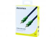 DACOMEX Cordon stéréo jack 3.5 mm - 1,8 m
