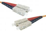 Jarretière optique duplex multimode OM3 50/125 SC-UPC/SC-UPC aqua - 3 m