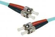 Jarretière optique duplex multimode OM4 50/125 ST-UPC/ST-UPC aqua - 5 m