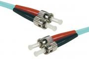 Jarretière optique duplex multimode OM4 50/125 ST-UPC/ST-UPC aqua - 3 m