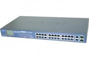 Planet FGSW-2622VHP SW 24P PoE+ 300W+ écran LCD +2G +2SFP