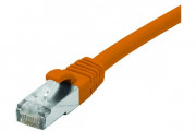 Cordon RJ45 catégorie 6A F/UTP LSOH snagless orange - 0,15 m