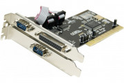Carte PCI 2 ports serie DB9+1 port parallèle Chipset Moship