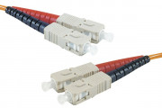 SC-UPC/SC-UPC duplex multimode OM1 62,5/125 Fiber patch cable orange - 5 m